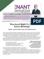 Jacob Tuvo Derecho de Usurpar La Bendición de Esaú - Propuesta de 2 Historias