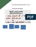 Utilizacion de Wildcard en Ospf y Acl