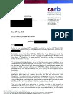 Carb Complaint Derek Dee Letter