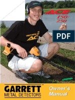 garret Ace 150 250 Manual Spanish