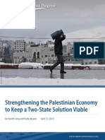 Strengthening the Palestinian Economy to Keep a Two-State Solution Viable