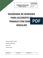 Diagrama de Ishikawa Para Accidente de Trabajo Con Esmeríl Angular