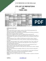 Compete List of Preps