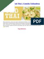 Receita Pad Thai
