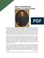 Auguste Comte Sociología