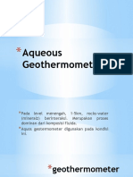 Aqueous Geothermometers