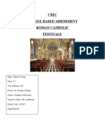 Religious Education School based assessment