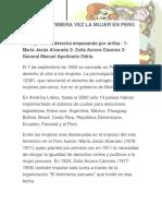 Vota Por Primera Vez La Mujer en Perú En