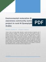 final report-environmental restoration and awareness community outreach project in rural al quwayiyah saudi arabia