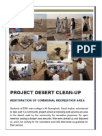 project desert clean-up report to esg