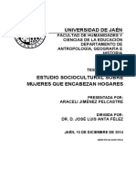 Jimenez Pelcastre, Estudio Sociocultural Sobre Mujeres Que Encabezan Hogares