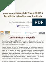 Cobit v5.0 BSC de TI con COBIT