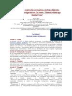 Ley 004 Anticorrupcion Marcelo Quiroga Sta. Cruz