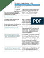 Celtx vs Word Script