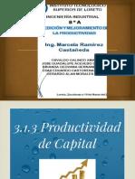 Producltividad de Capital