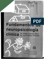 Fontán & Lorenzo-Cap. 1 Introducción a Neuropsicología