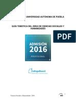BUAP Guía 2016 Cs Sociales Humanidades