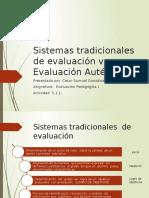 Activ 5-1 Sistemas Tradicionales de Evaluación vs Evaluación Auténtica
