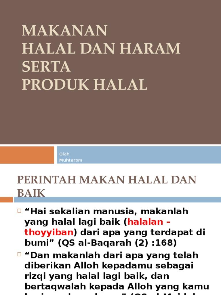6 Makanan Halal Dan Haram Dr Muhtarom