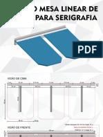 Projeto Mesa Linear de Parede Para Serigrafia