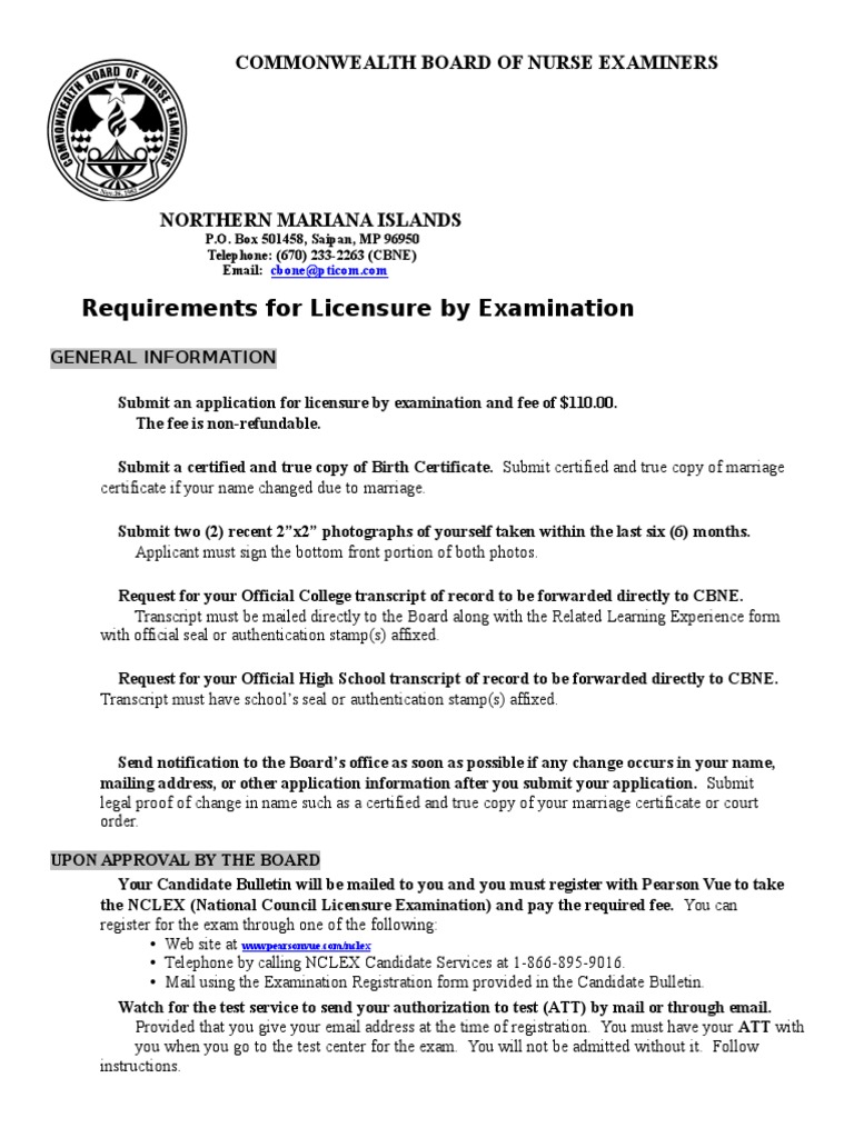 Doc 20 and 21 requirements for licensure by examination doc 20 and 21 requirements for licensure by examination national council licensure examination test assessment 1betcityfo Gallery