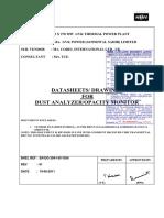 Dust Analyzer Documents