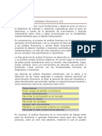 Naturaleza Del Análisis Financiero