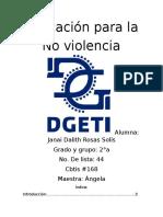 Educacion Para La No Violencia