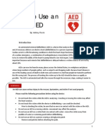 Instruction Set- How to use an AED