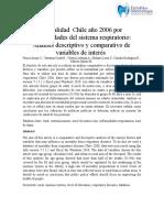 Mortalidad  Chile año 2006 por enfermedades del sistema respiratorio