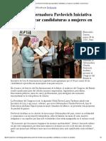 08-03-16 Entrega Gobernadora Pavlovich Iniciativa para garantizar candidaturas a mujeres en alcaldías. -Canal Sonora