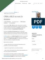 CRM y MLS