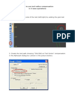 Pitagora Manual - Tool Radius Compensation