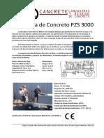 Ficha Tecnica Lanzador de Concreto CANCRETE Ficha Tecnica PZS 3000