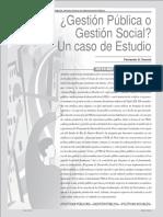 Gestion Publica o Gestion Social