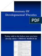 Summary of Developmental Theories