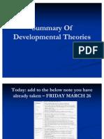 Summary of Developmental Theories