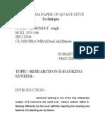 Term Paper of Quantative