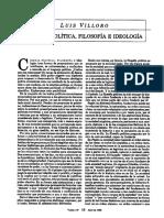 Ciencia política, filosofía e ideología. Luis Villoro