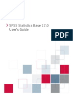 SPSS Statistcs Base Users Guide 17.0