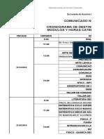 Cronograma y Vacantes Dest. Def. y Ti 2015 2016