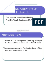 5. Developing a Review of Related Literature