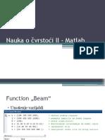 Nauka o Čvrstoći II - Matlab