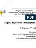 Signal Injection Techniques for Fault Location in Distribution Networks