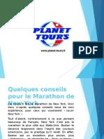 Quelques conseils pour le Marathon de New York