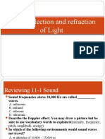 CH 11-2 Reflection and Refraction of Light