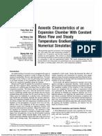 AcousticCharacteristicsofanExpansionChamberWithConstantMassFlowandSteadyTemperatureGradient(TheoryandNumericalSimulation).pdf