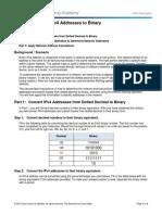 7.1.2.9 Lab - Converting IPv4 Addresses to Binary