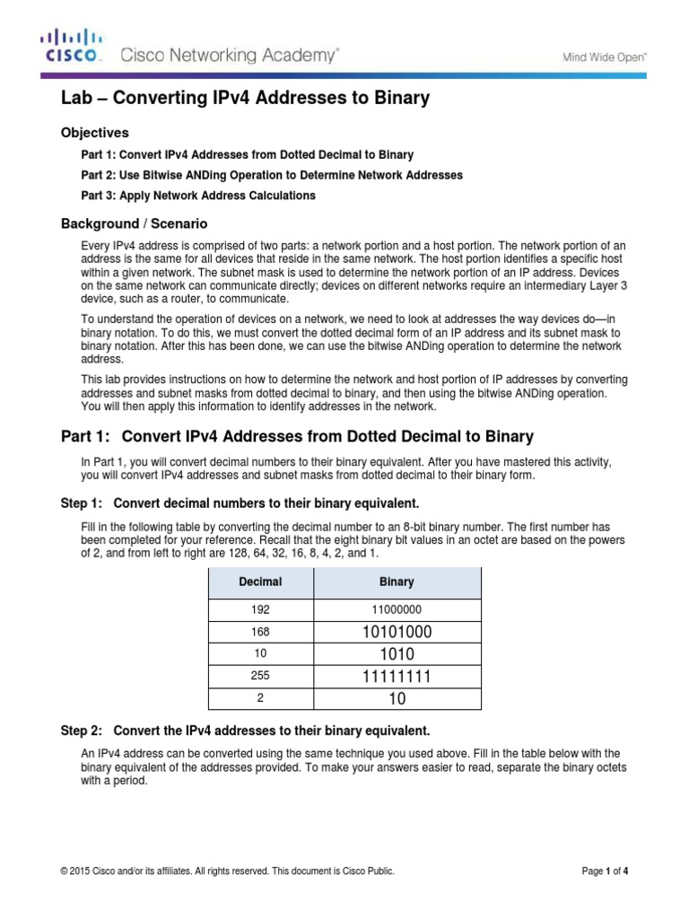 lab 6 7 4 ipv4 address subnetting part 2 Oyster bay high cst search this site part 1: design a network subnetting scheme types of ipv4 addresses lab 7129 converting ipv4 to binary.