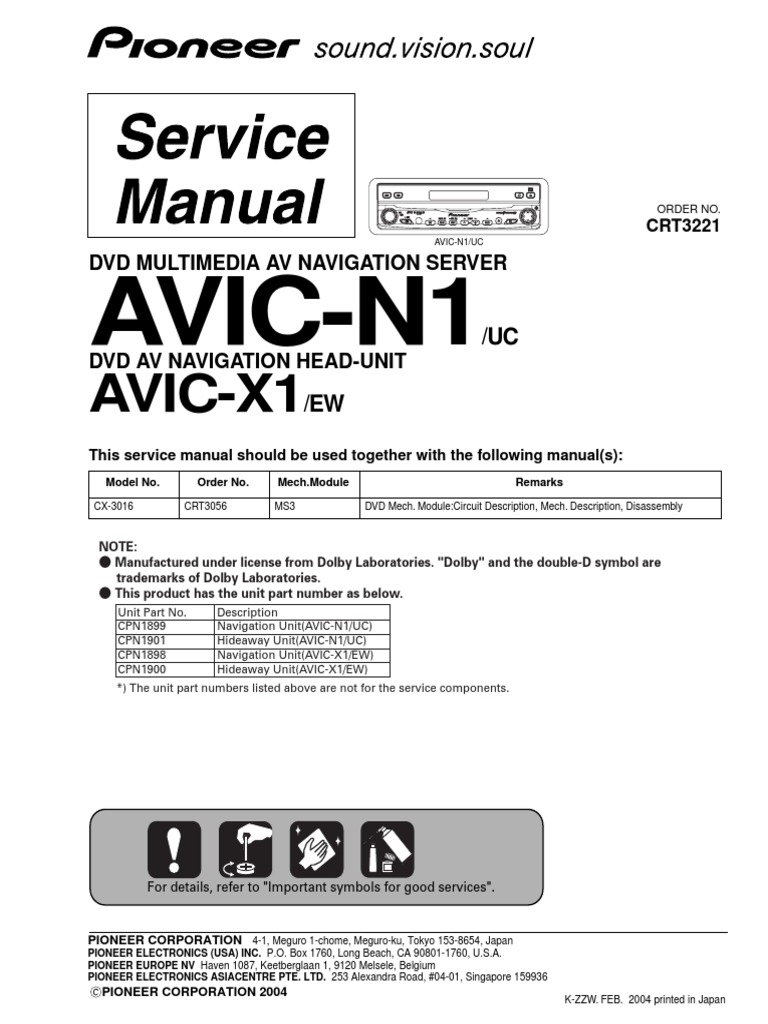 Pioneer avic n1avic x1 pdf laser electrical connector cheapraybanclubmaster Gallery